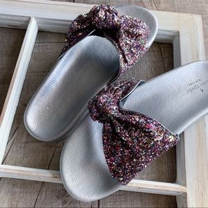 Kate Spade Glittery Bow Sandals